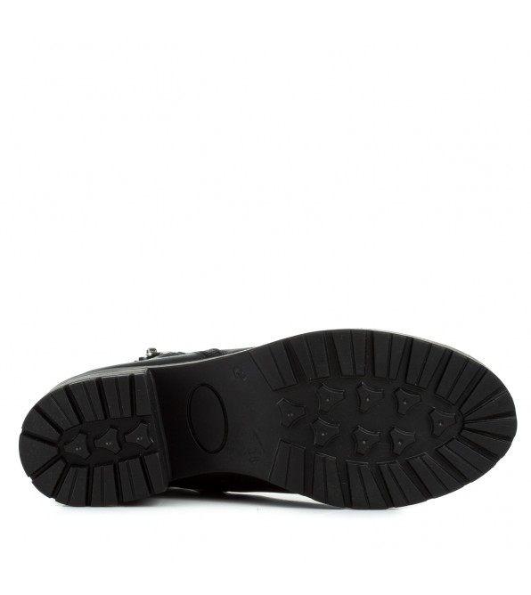 Черевики жіночі шкіряні чорні на каблуку Monro