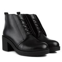 Ботинки женские кожаные на широком каблуке Monroe