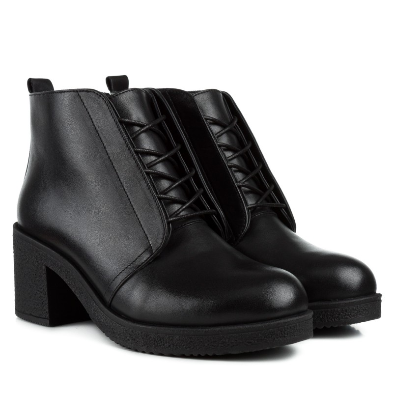 Черевики жіночі шкіряні на широкому каблуку Monroe