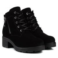 Ботинки женские замшевые на удобном каблуке Mariani