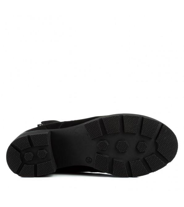 Черевики жіночі нубукові на каблуку Mariani