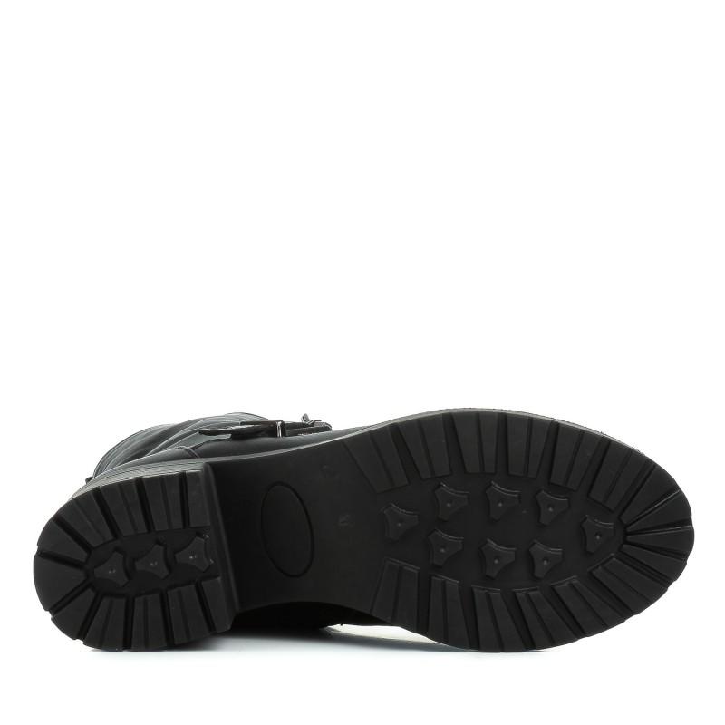 Черевики жіночі шкіряні з пряжкою на каблуку Kvitas