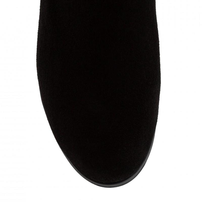 Напівчобітки жіночі замшеві на каблуку Foletti