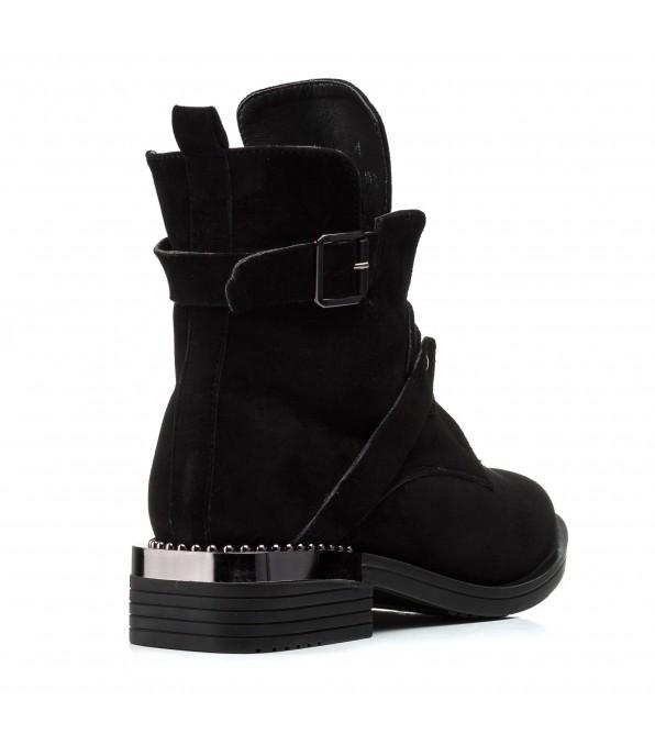Черевики жіночі замшеві чорні зимові Zumer