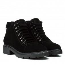 Ботинки женские замшевые зимние на шнуровке Kento