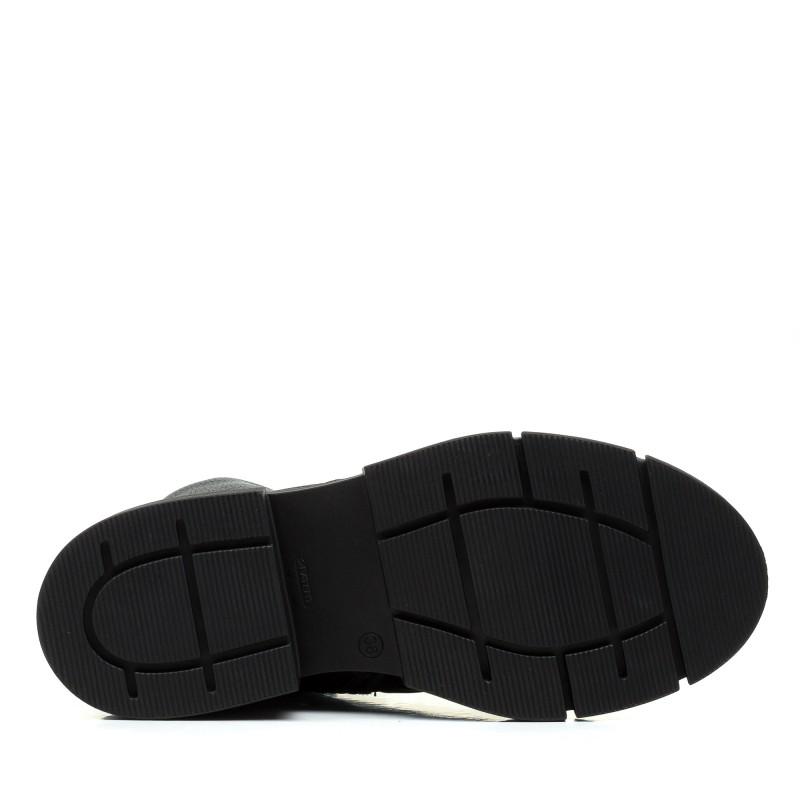 Черевики жіночі шкіряні чорні на низькому ходу Kento