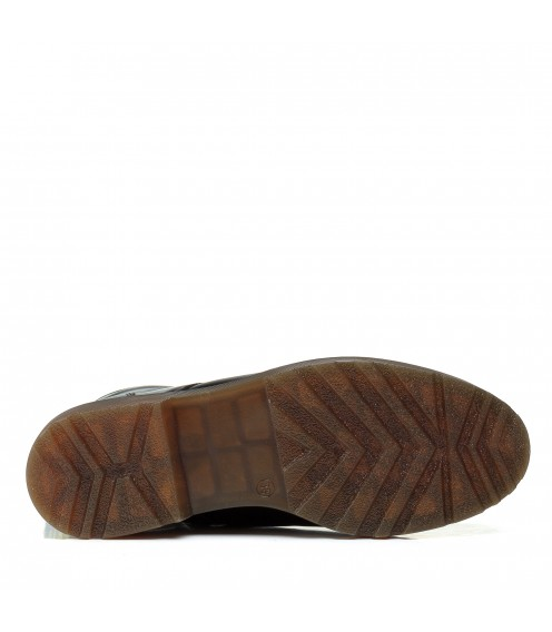 Черевики жіночі шкіряні зимові на шнурівці Aspena