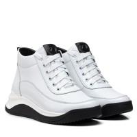 Кроссовки женские кожаные белые Kento