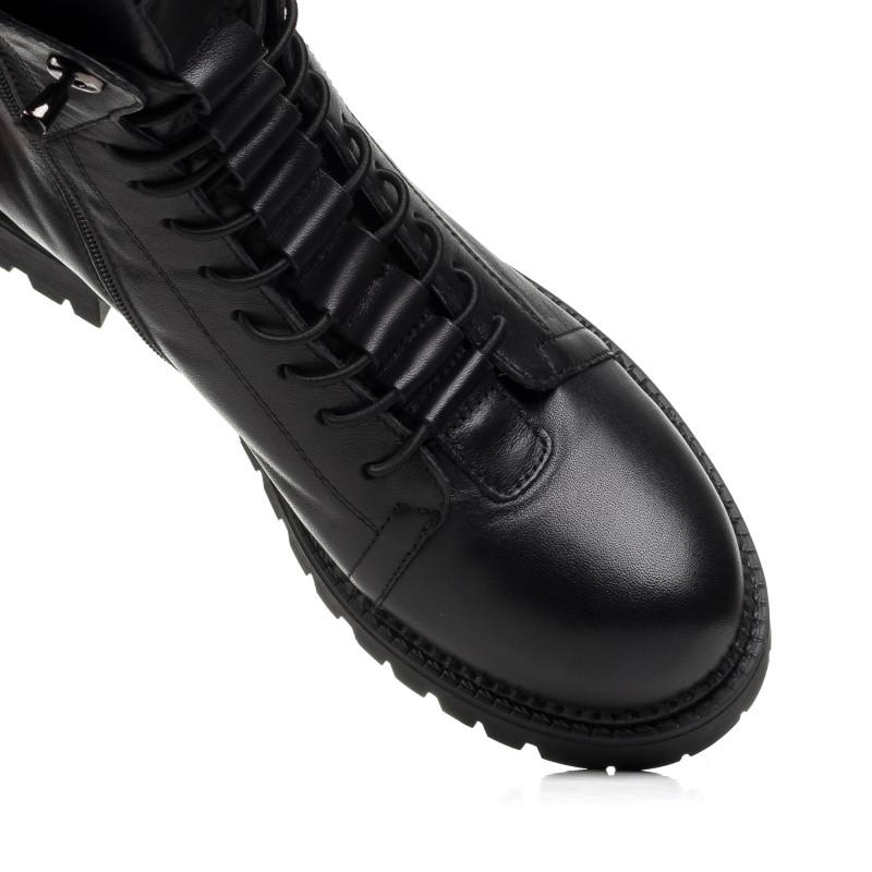 Черевики жіночі шкіряні чорні на низькому ходу  Corsovito