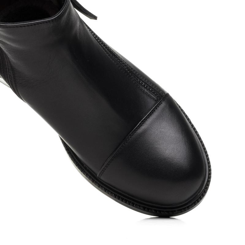 Черевики жіночі шкіряні чорні зимові Monroе