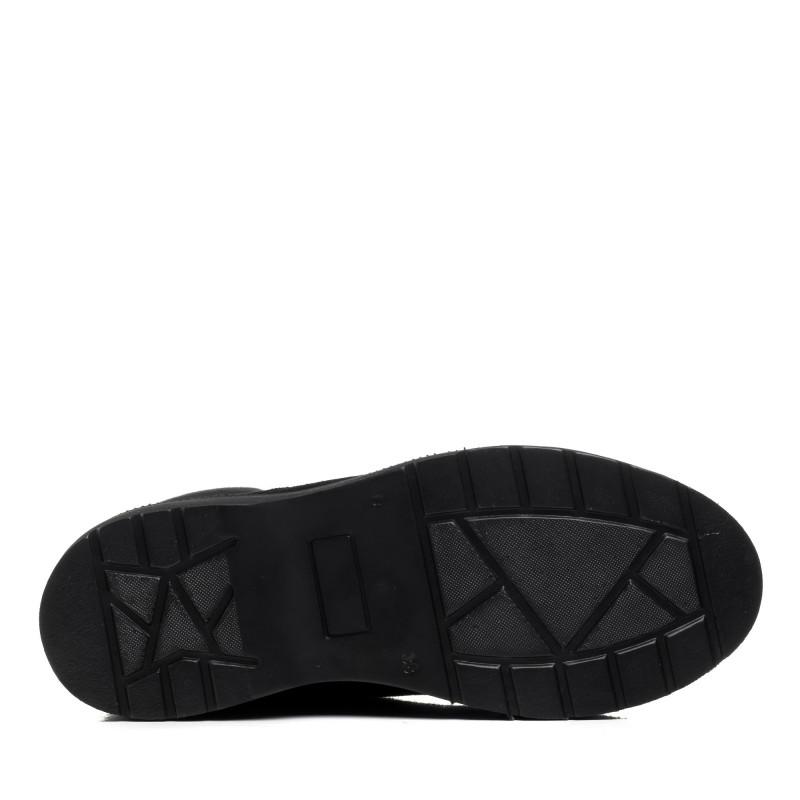 Черевики жіночі замшеві зимові чорні на платформі Monroе