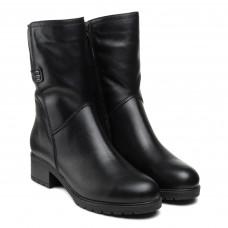 Чоботи romax чорні шкіряні на каблуку класичні