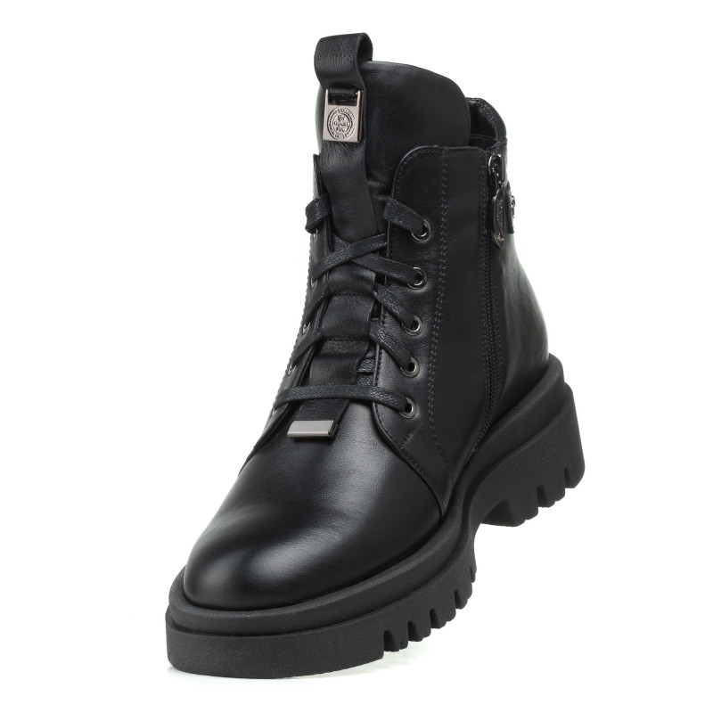 Черевики чорні romax шкіряні на шнурівках зручні зимові