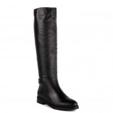 Жіночі чоботи шкіряні чорні на низькому каблуку Monroe
