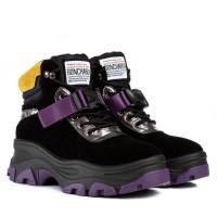 Ботинки женские черные на платформе Gelsomino