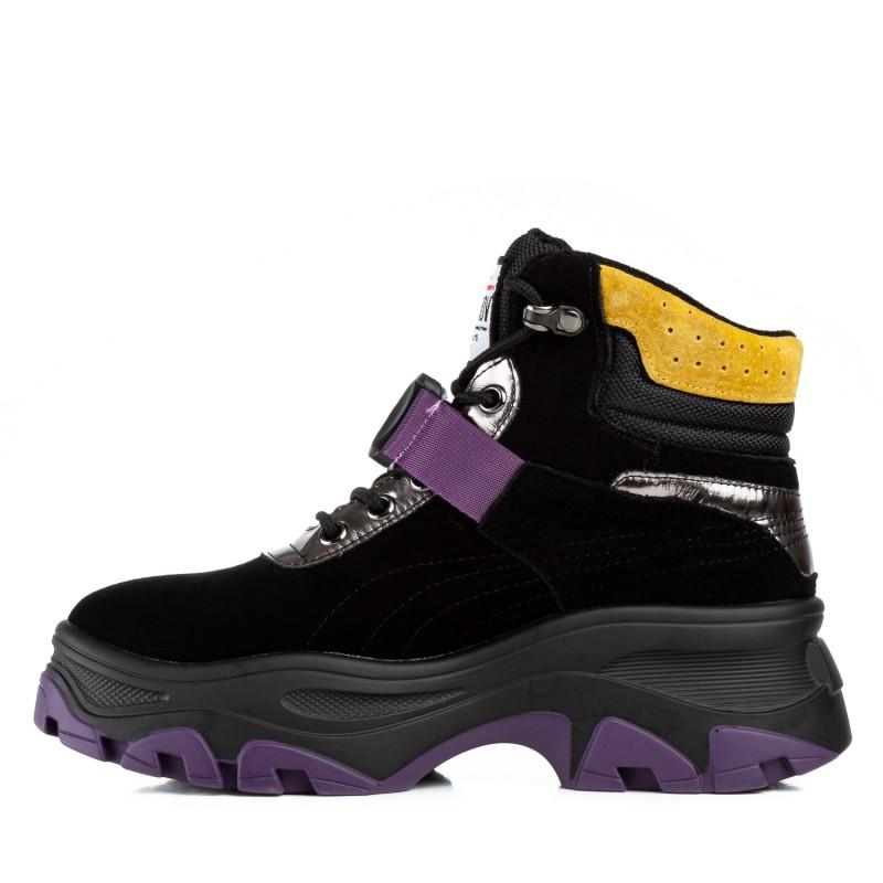 Кросівки жіночі чорні на платформі Gelsomino