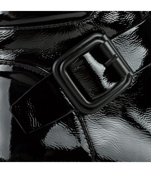 Черевики жіночі лакові чорні на низькому ходу Brocoli