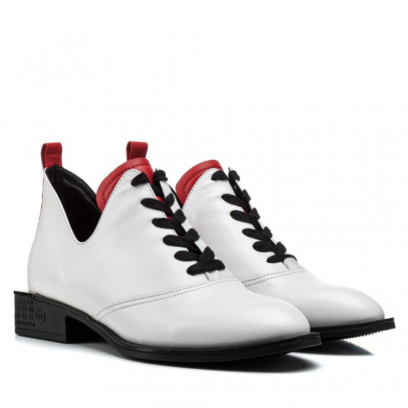 Ботинки женские кожаные модные белые Sufinna