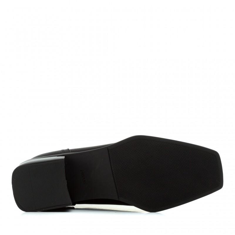 Черевики жіночі шкіряні з квадратним каблуком Sufinna