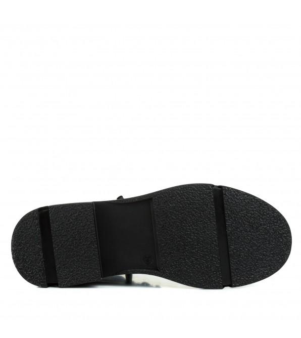 Черевики жіночі шкіряні на шнурівках стильні