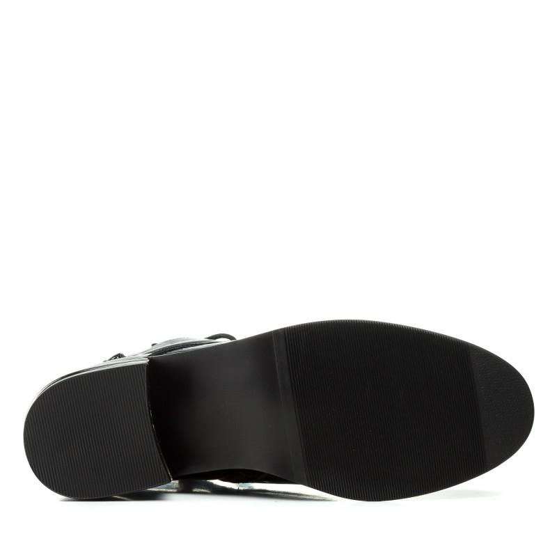 Черевики жіночі лаковані чорні демісезонні Geronea