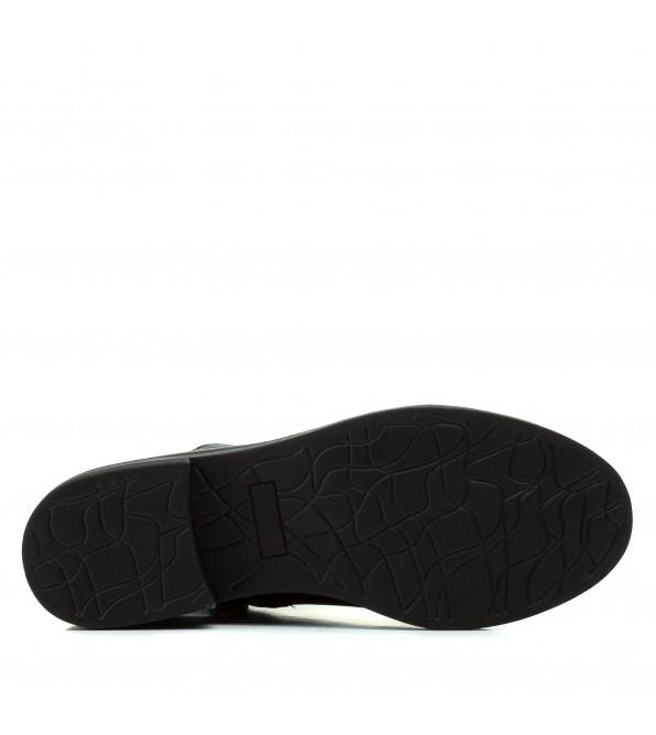 Черевики жіночі шкіряні з декорованими шнурівками Farinni