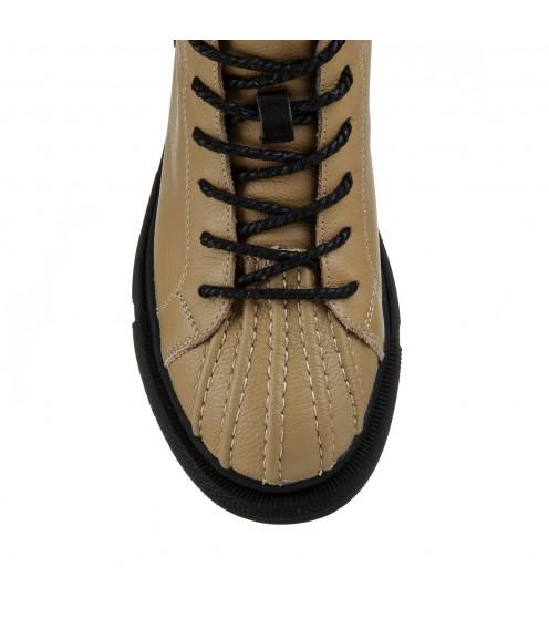 Черевики жіночі шкіряні оригінальні на шнурівках Berkonty