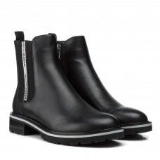 Ботинки женские кожаные черные на низком ходу Geronea