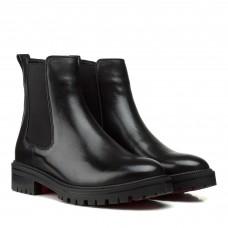 Ботинки челси женские кожаные черные на низком ходу Farinni