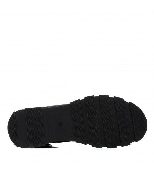 Черевики жіночі демісезонні шкіряні на шнурівці Meegocomfort