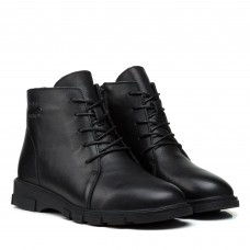 Ботинки женские демисезонные кожаные на шнуровке Meegocomfort