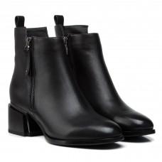 Ботильоны женские кожаные демисезонные на толстом каблуке Brocoli