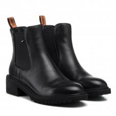 Ботинки челси женские черные кожаные Anemone