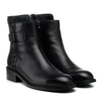 Ботинки женские кожаные черные на низком ходу Anemone
