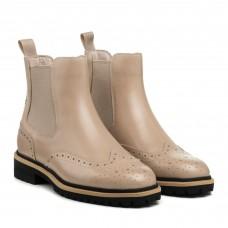 Ботинки кожаные демисезонные бежевые Anemone