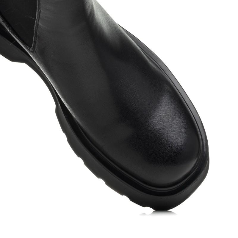 Черевики шкіряні демісезонні чорні Polann