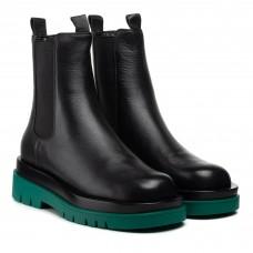 Ботинки челси женские черные демисезонные Polann