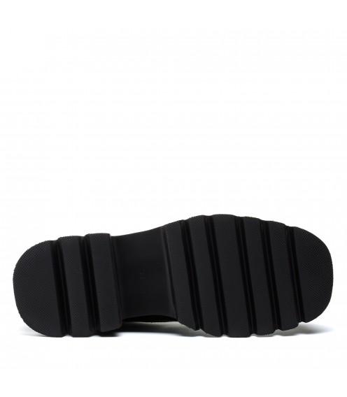 Черевики жіночі шкіряні демісезонні на шнурівці Geronea