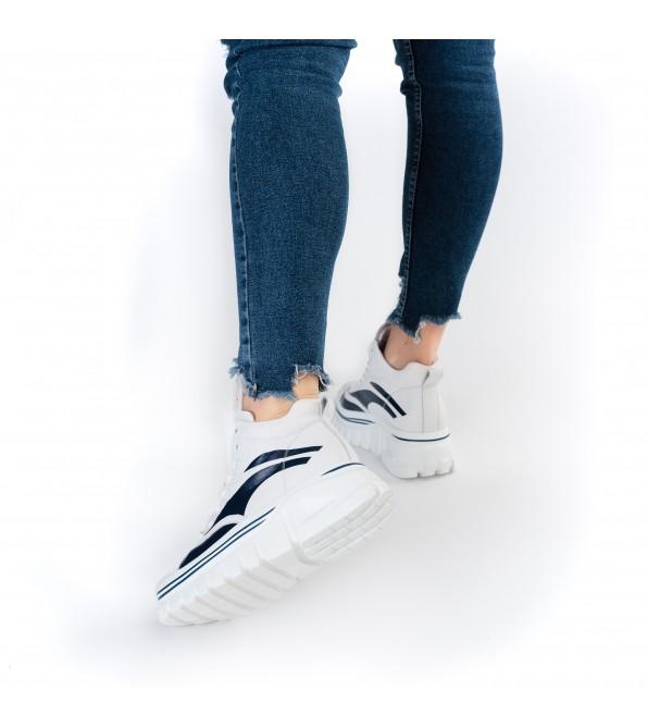 Кросівки жіночі шкіряні високі на платформі Berkonty