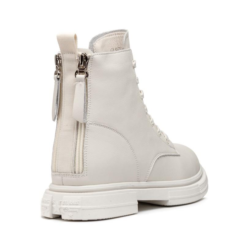 Ботинки женские светлые на шнуровке V.I.Konty
