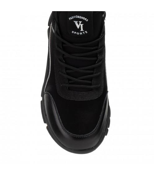 Кросівки жіночі чорні спортивні V.I.Konty