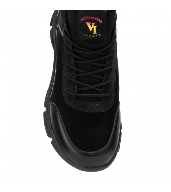 Кросівки жіночі чорні на танкетці V.I.Konty