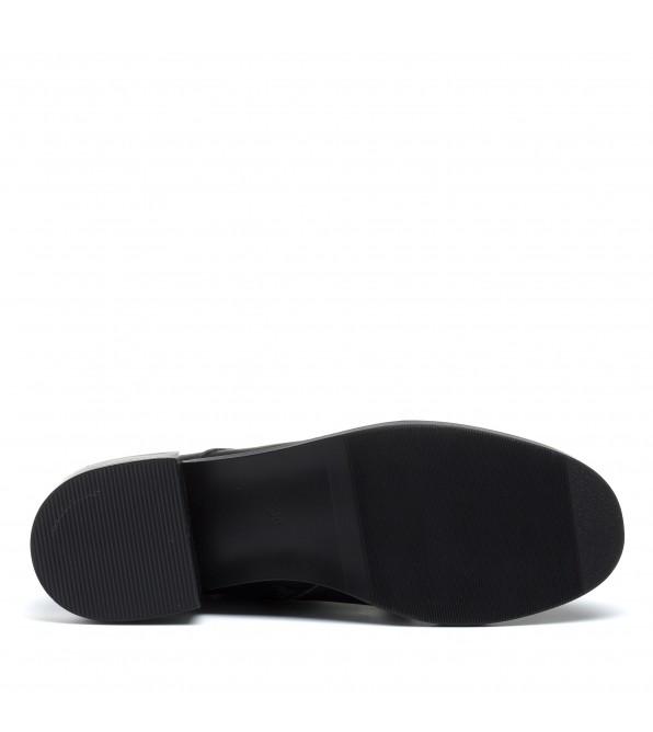 Черевики жіночі шкіряні демісезонні чорні mossani