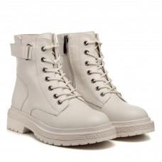 Ботинки кожаные белые Farinni