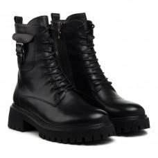 Ботинки кожаные черные демисезонные Farinni