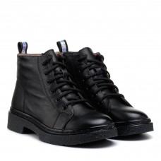 Ботинки женские кожаные черные на шнурках Farinni