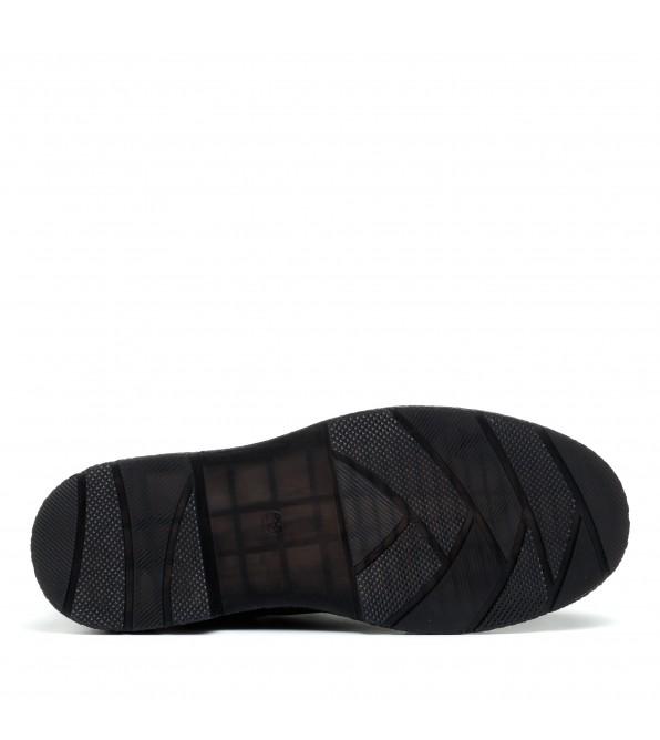 Черевики жіночі шкіряні чорні на шнурках Farinni