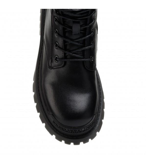 Черевики жіночі чорні на шнурівці Lifexpert