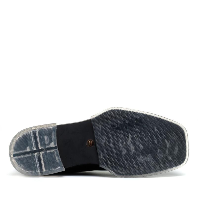 Черевики челсі чорні шкіряні на низькому ходу Polann