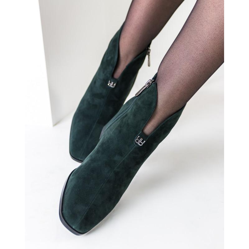 Ботильйони жіночі замшеві зелені Lady marcia
